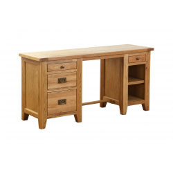 Besp-Oak Double Pedestal Desk