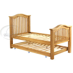 Besp-Oak Slatted Pull Out Bed