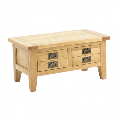Besp-Oak 2 Drawer Coffee Table