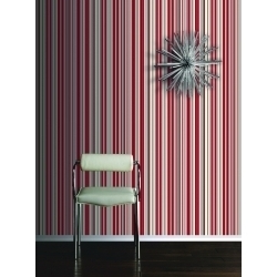 Arthouse Sophia Stripe Red Wallpaper