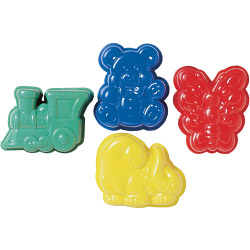 Chef Aid 4 Plastic Jelly Moulds