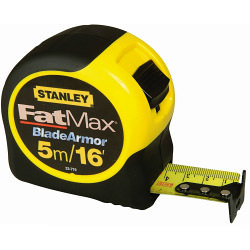 Stanley FatMax Blade Armor Metric/Imperial Tape - Length: 5m (16ft) x Width: 32mm