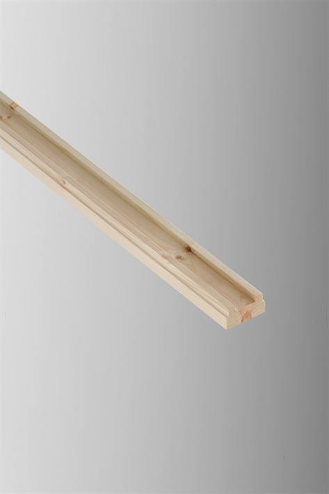 Cheshire Mouldings Base Rail Pine - 32 x 62mm x 2.4m