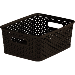 Curver Nestable Rattan Basket Brown