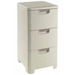 Curver Rattan Tower Drawer Unit