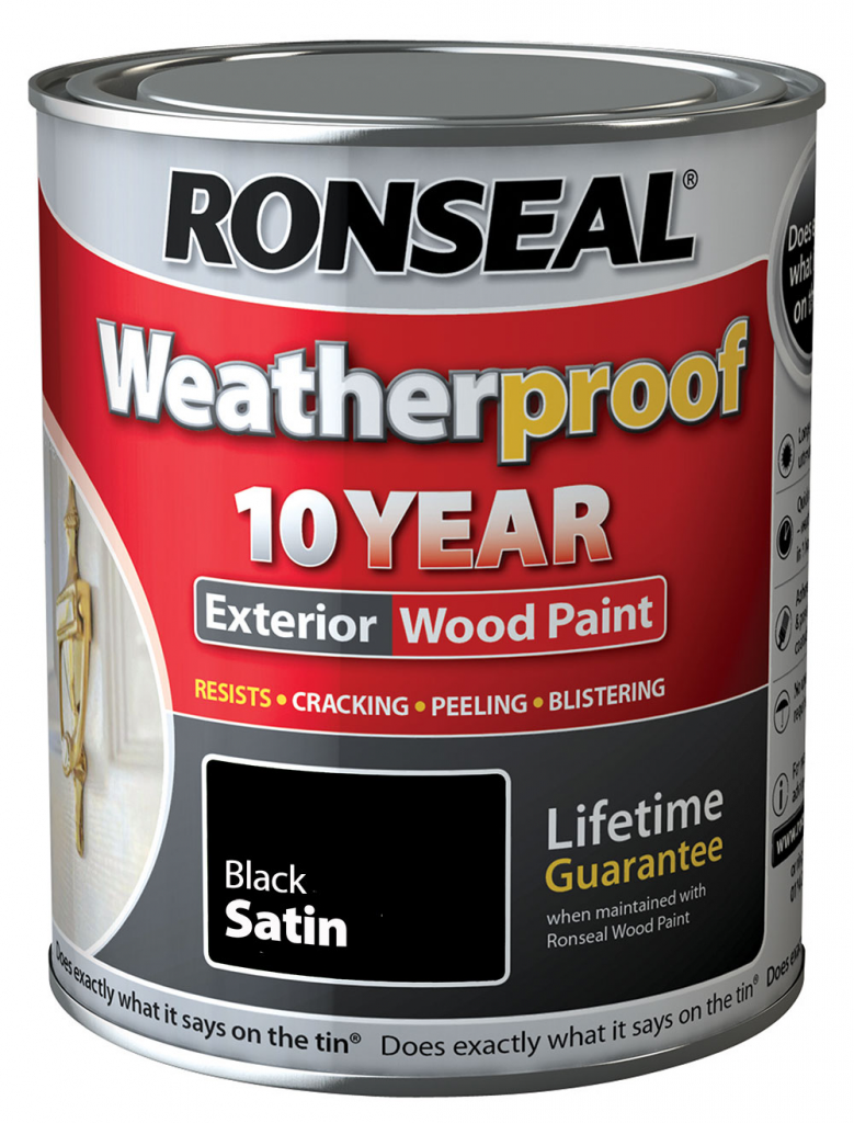 Ronseal Weatherproof 10 Year Exterior Wood Paint Satin 750ml Stax Trade Centres