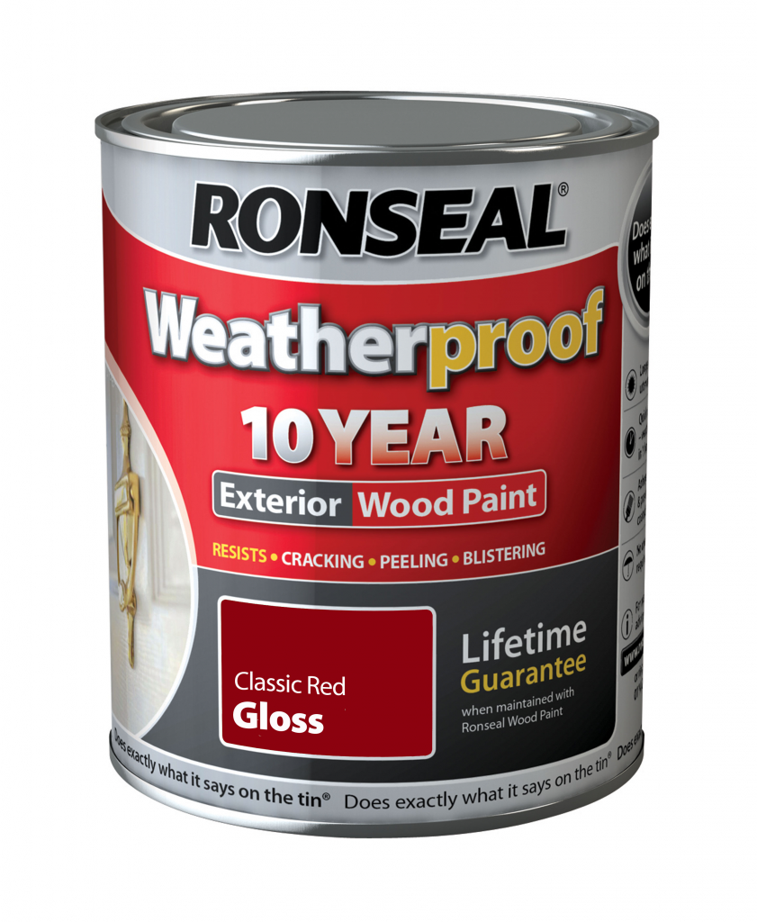Ronseal Weatherproof 10 Year Exterior Wood Paint Gloss 750ml Stax Trade Centres