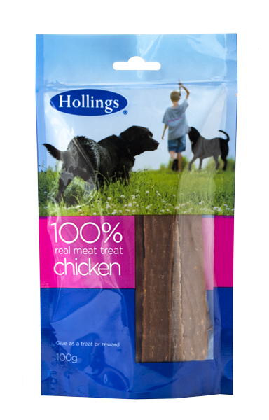 Hollings 100% Real Meat Treat - Chicken 100g