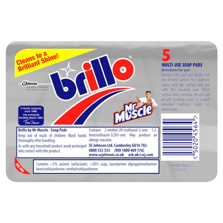 Brillo Soap Cleaning Pads - Pack 5