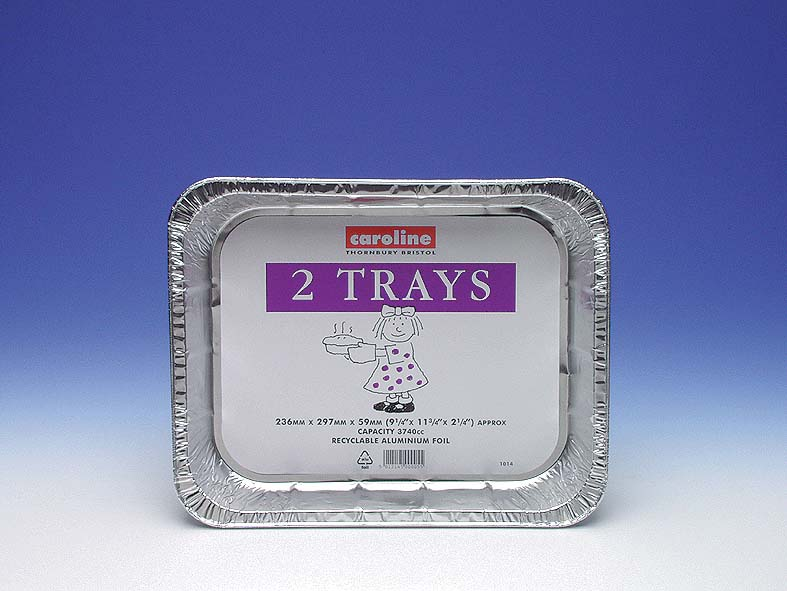 Caroline Foil Tray 2 Pack - 236mm x 297mm x 59mm