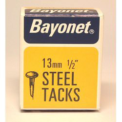 Bayonet Tacks (Fine Cut Steel) - Blue (Box Pack) - 13mm