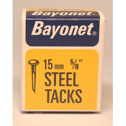 Bayonet Tacks (Fine Cut Steel) - Blue (Box Pack) - 15mm