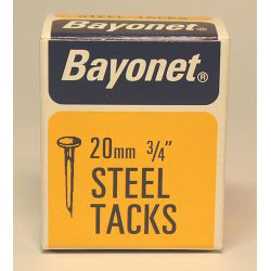 Bayonet Tacks (Fine Cut Steel) - Blue (Box Pack) - 20mm