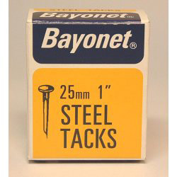 Bayonet Tacks (Fine Cut Steel) - Blue (Box Pack) - 25mm