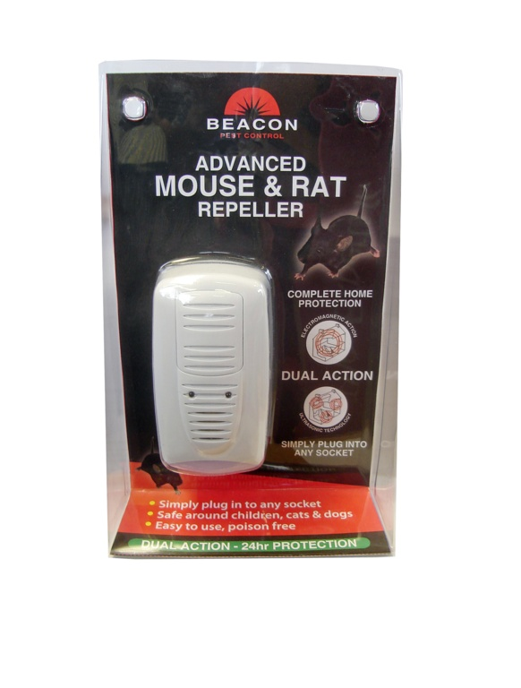 Rentokil Advanced Mouse & Rat Repeller - Dual Action - Single Unit