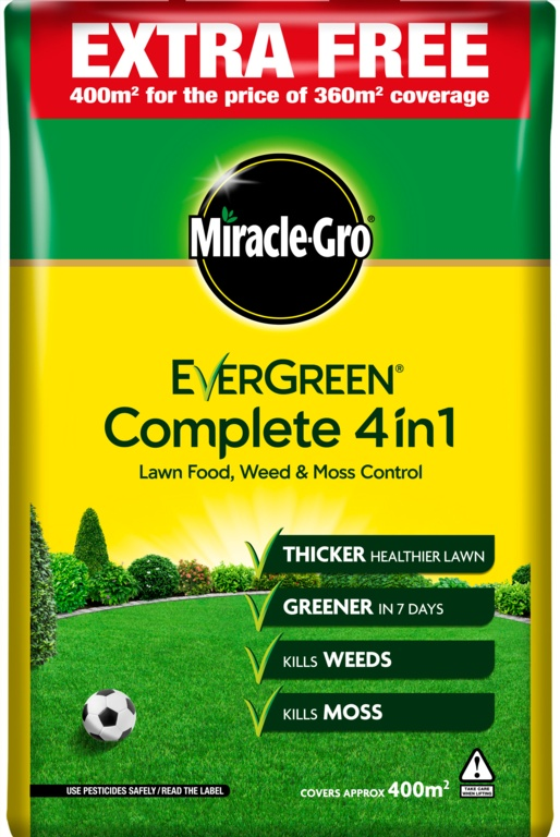 Miracle-Gro Evergreen Complete 4 in 1 - 360m2 PLUS 10% Free