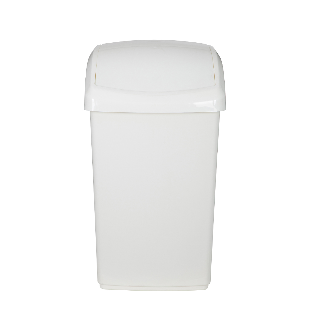 Whitefurze 50L Swing Lid Bin And Base - Cream