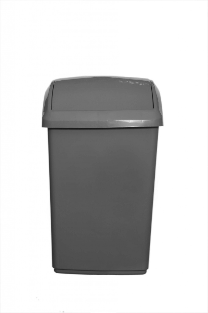 Whitefurze 30L Swing Lid Bin And Base - Silver