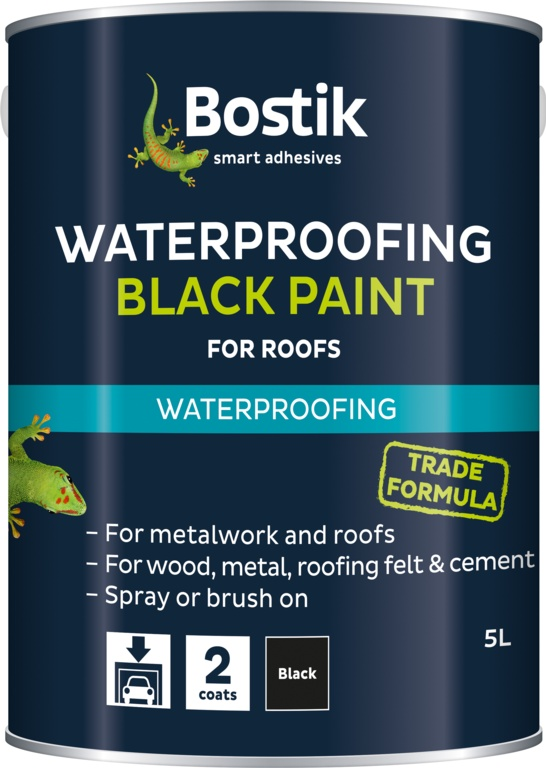 Bostik Bituminous Black Paint - 5L