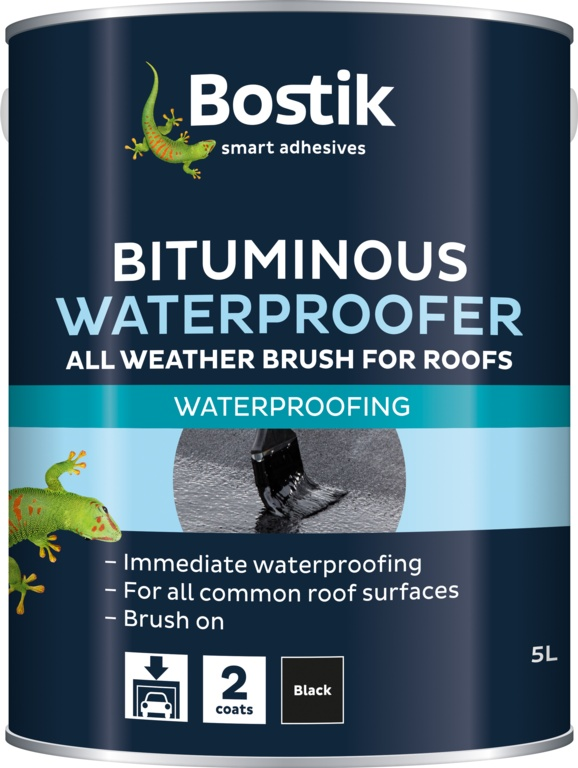 Bostik Brushable Waterproofer For Roofs - 5L