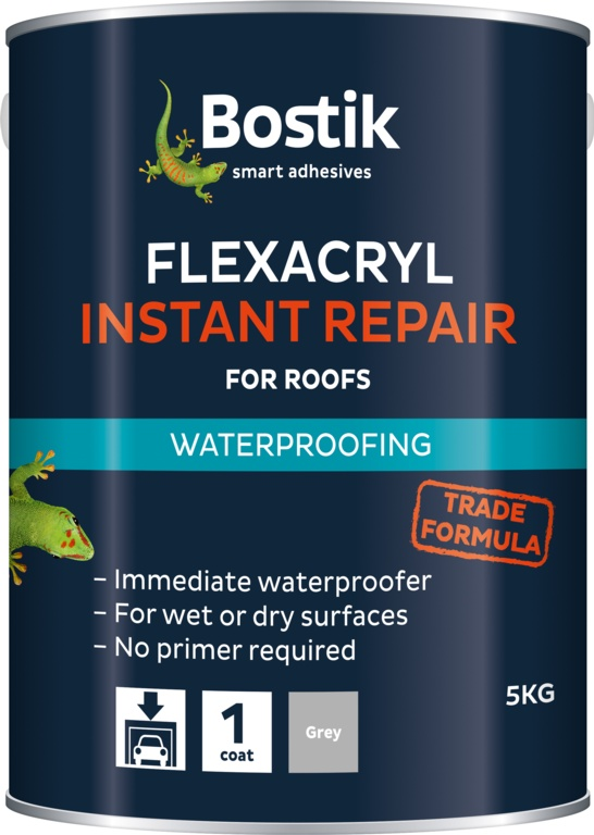 Bostik Flexacryl Instant Waterproof Compound - 1kg Grey