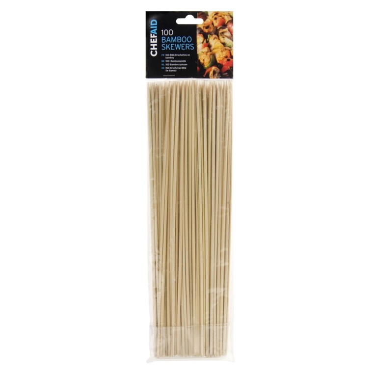 Chef Aid Bamboo Skewers (Pack of 100) - 30.5cm
