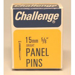 Challenge Panel Pins - Bright Steel (Box Pack) - 15mm