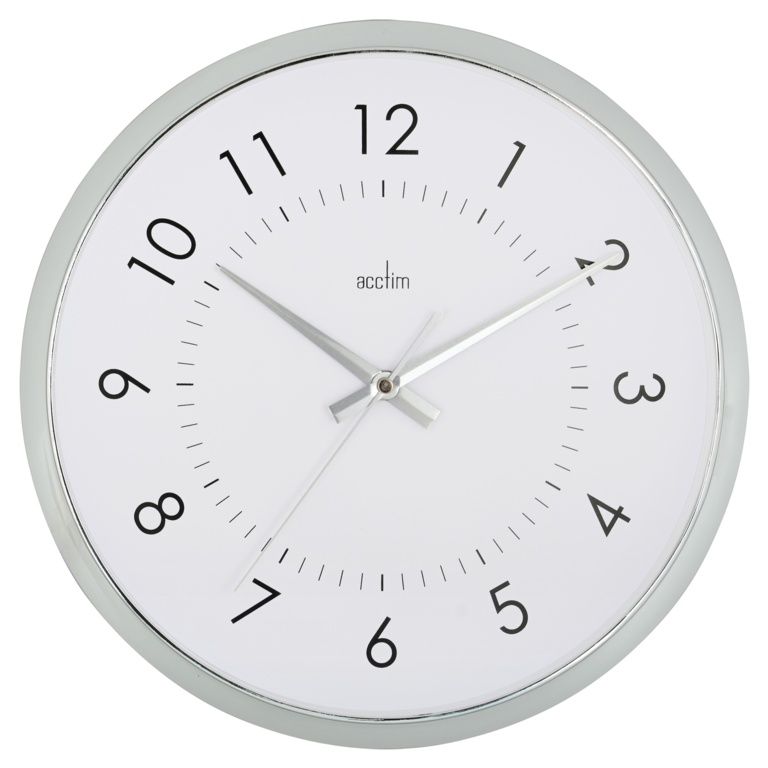 Acctim Yoko Wall Clock White - Chrome