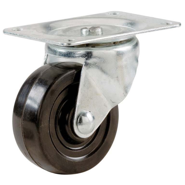 Select Swivel Castors Rubber Wheel - 51mm