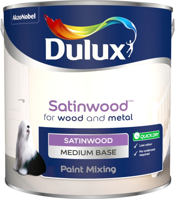 Dulux Colour Mixing 2.5L - Medium Satinwood Base