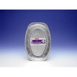 Caroline Silver Foil Serving Platter - 35cm