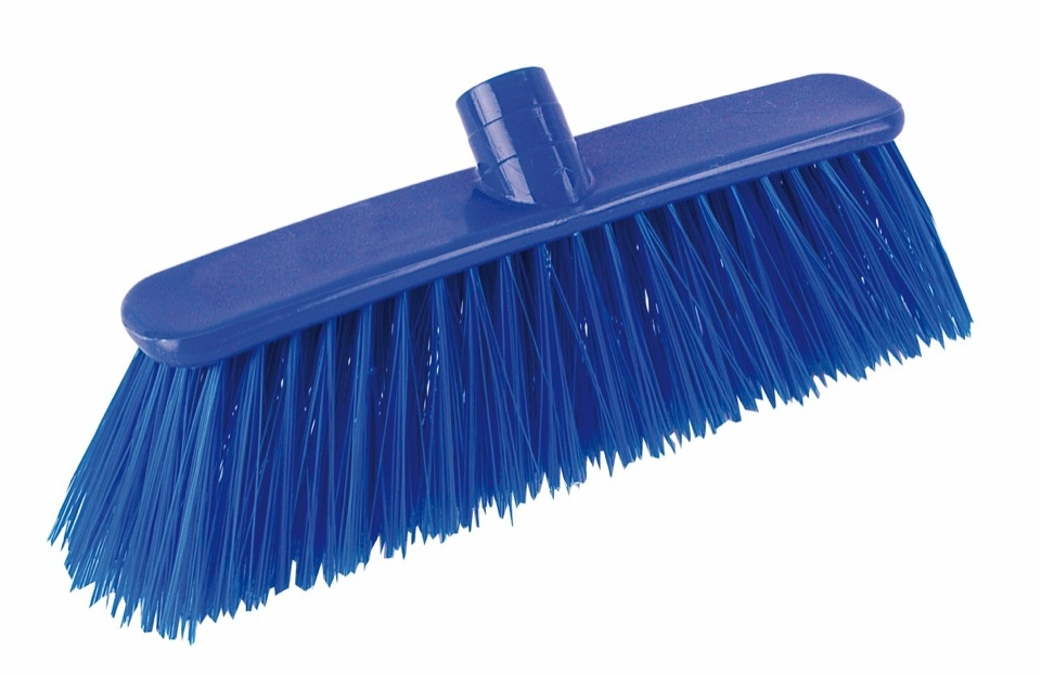 Blue Stiff Deluxe Broom - 1