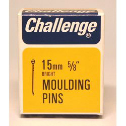 Challenge Moulding Pins (Veneer Pins) - Bright Steel (Box Pack) - 15mm