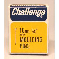 Challenge Moulding Pins (Veneer Pins) - Bright Steel (Box Pack) - 15mm