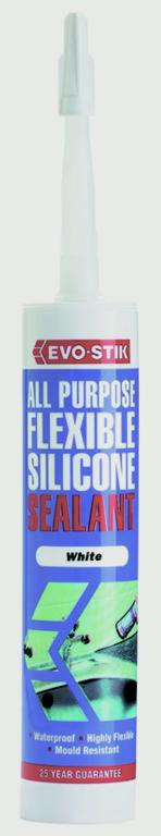 Evo-Stik All Purpose Flexible Silicone Sealant - Black