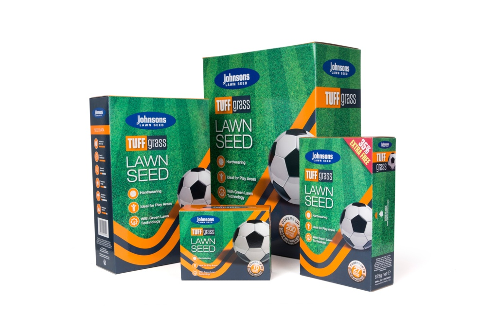Johnsons Lawn Seed Tuffgrass - 250g Carton Patch-Pack