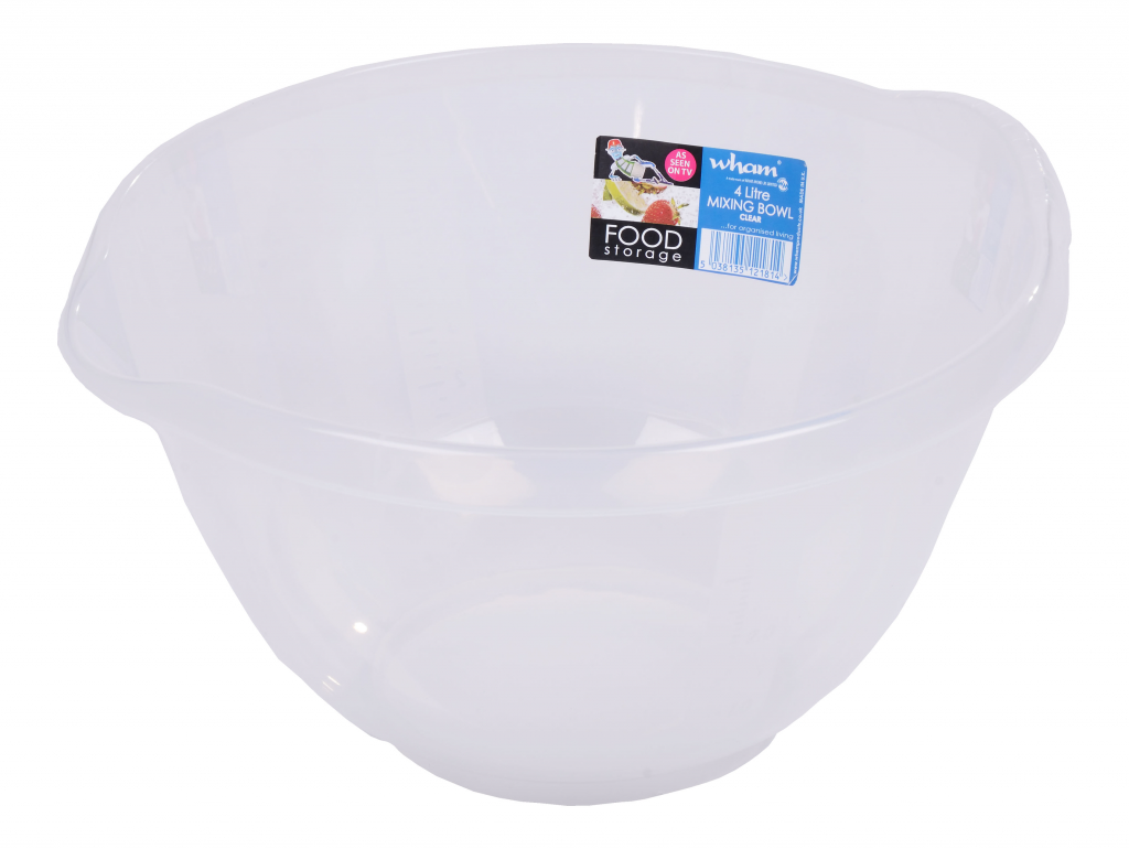 Wham Clear Mixing Bowl - 4ltr