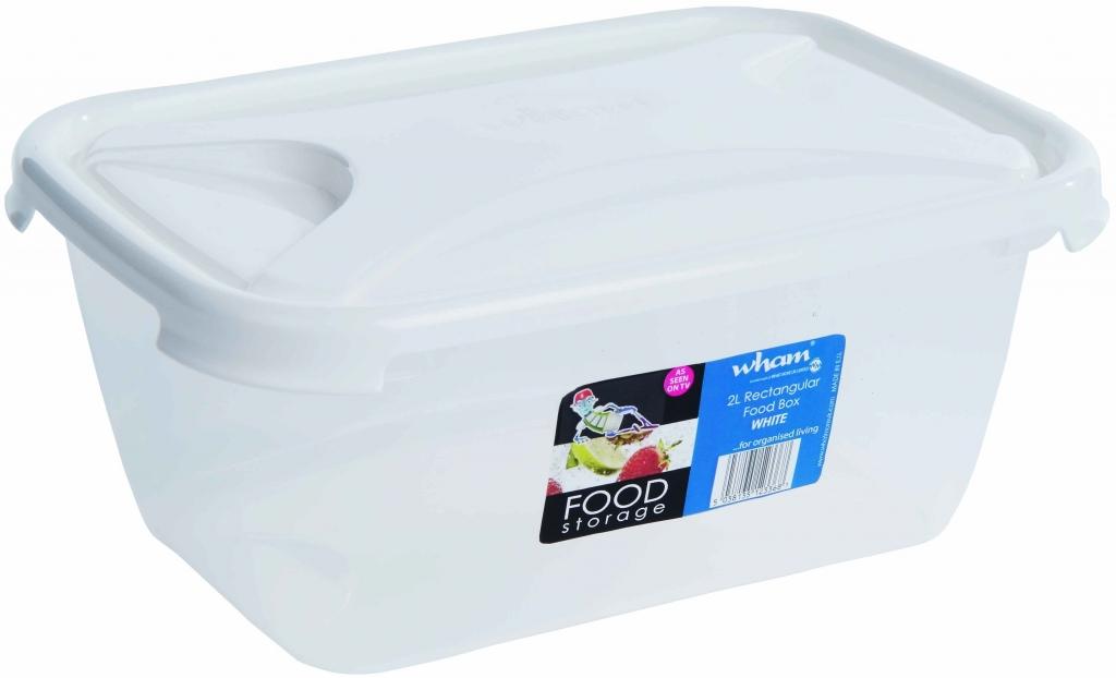 Wham Rectangular Food Storage White - 2L
