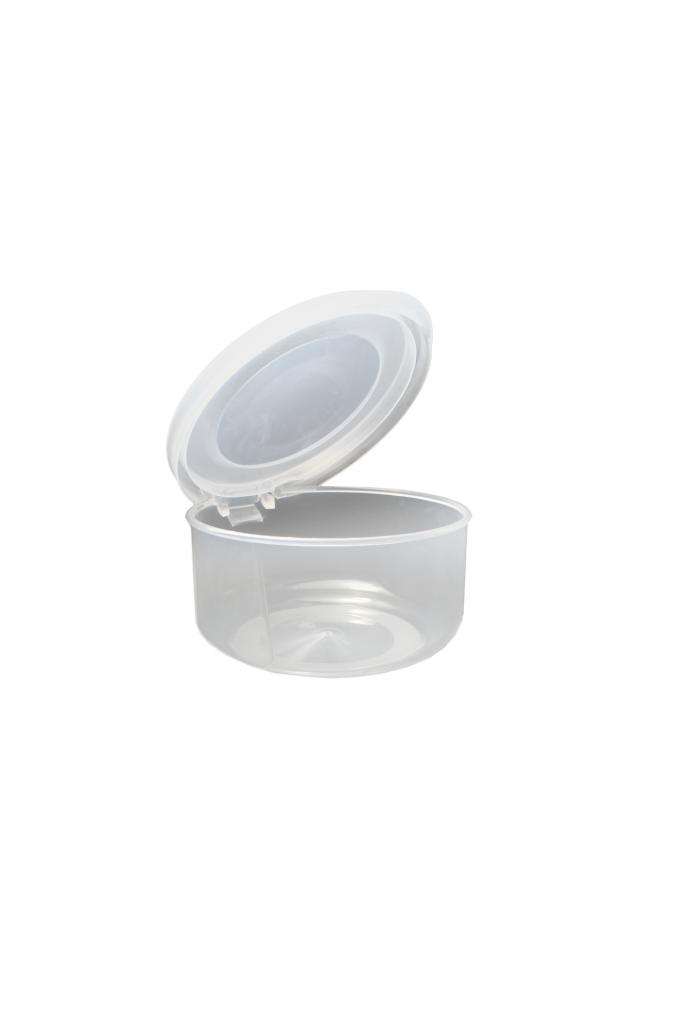 Beaufort Food Container Round Hinged Lid - 125ml Clear