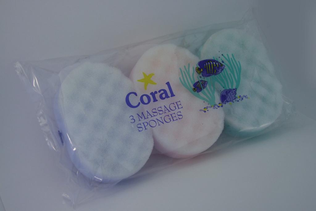 Coral Massage Sponge - Pack 3