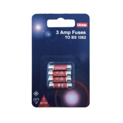 Dencon 3A Fuses Blister Packed (4)