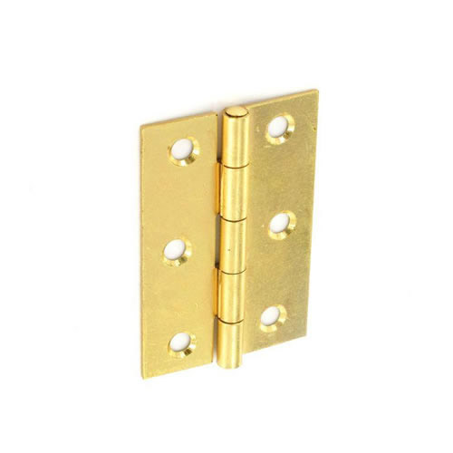 Securit Steel Butt Hinges Brass plated - 75mm