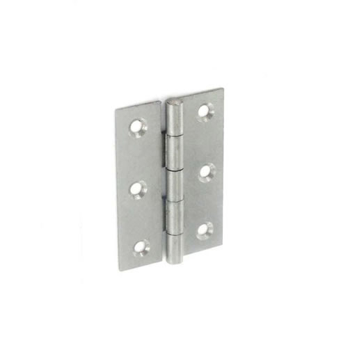 Securit 5050 Steel Narrow Butt Hinges Self colour - 50mm Pack 20