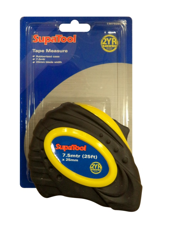 Supatool Rubberised Tape Measure Stax Trade Centres