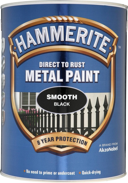 Hammerite Metal Paint Smooth 5L - Black