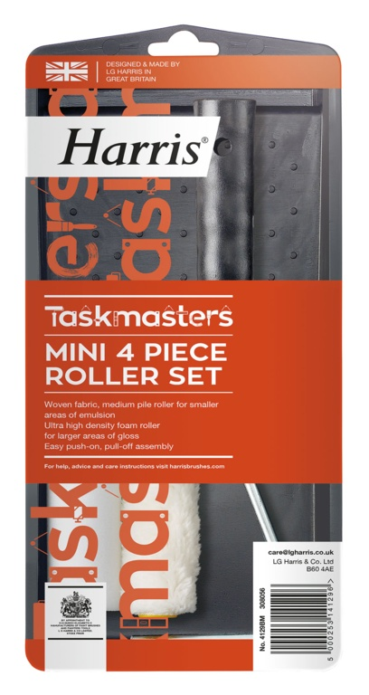 Harris Taskmasters Mini Roller Set - 4""