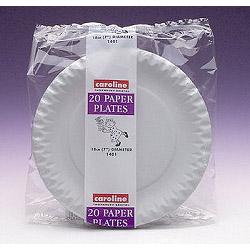 Caroline White Paper Plates (20)