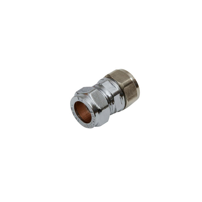 Chrome Straight 15mm Coupling Pack of 5