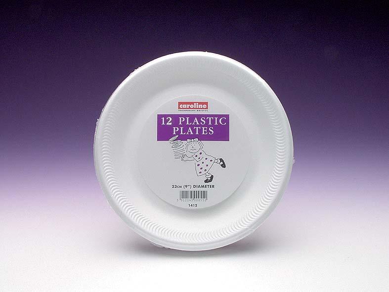 Caroline Foam Plates Pack 12 - 9
