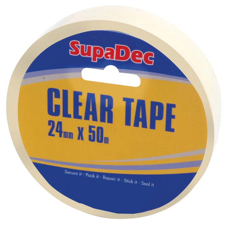 SupaDec Clear Tape - 24mm x 50m